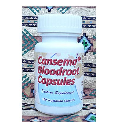 Cansema Bloodroot Capsules - 100 Vegetarian Capsules x 300mg